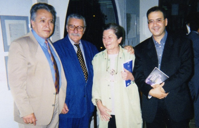 with the director of M. Ponce museum, Robert Vidal and his wife (Vera Cruz, Mexico)